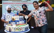 Tokyo Olympian Kamalpreet Kaur felicitated with 65-kg cake