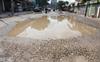 Big potholes on Bachan Singh Marg causing mishaps