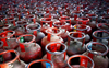 Ex-councillor protests LPG price hike