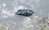 Car falls into Beas in Mandi, driver remains untraceable